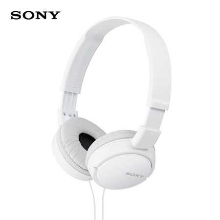索尼MDR-ZX110AP头戴式耳机白色139元
