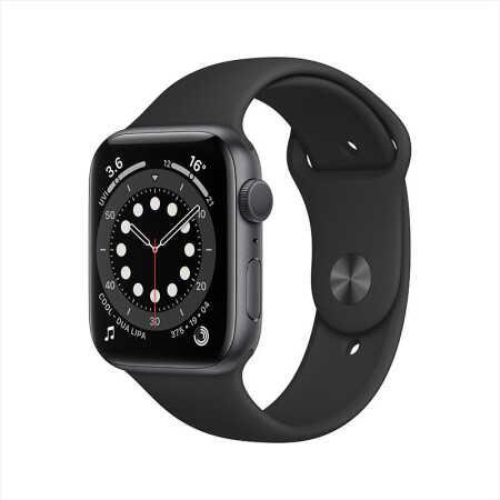 AppleWatchSeries6智能手表GPS款44毫米深空灰色鋁金屬表殼
